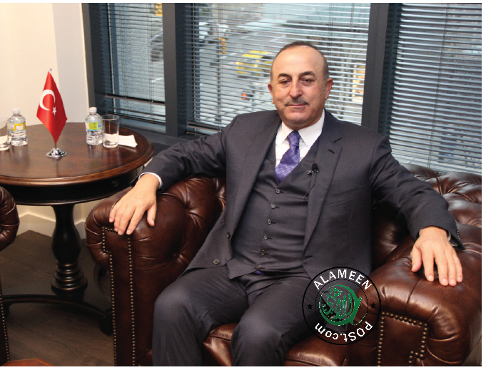 AlameenPost One on One with  H.E. Mevlüt ÇAVUSOGLU,  Minister of Foreign Affairs of the Republic of Turkey
