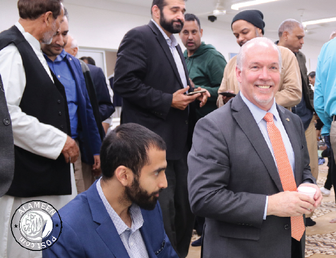 Premier John Horgan visits Al Jamia Masjid for Iftar