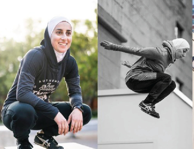 How Cool Is This Hijabi Parkour Athlete?! Sara Mudallal Is Jumping Her Way Through Life