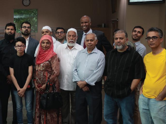 Minister Ahmed Hussen Visits Masjid Al Salam