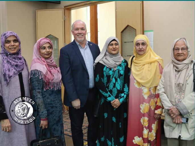 Premier John Horgan Visits Masjid Al Salam in wake Christchurch Mosque Attacks