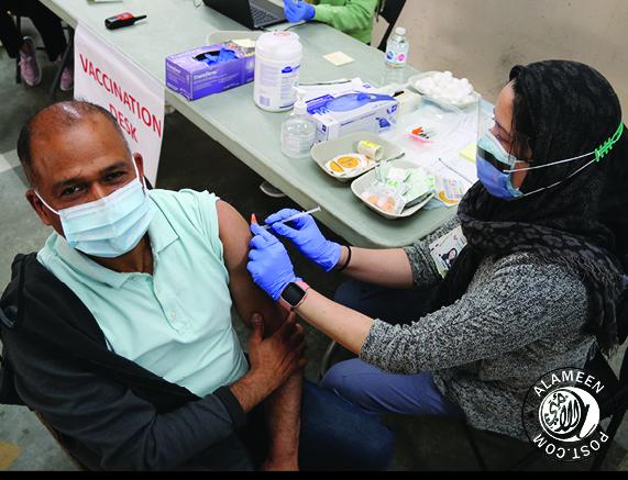 Fraser health held a Covid Vaccination Drive at Surrey Jamea Masjid
