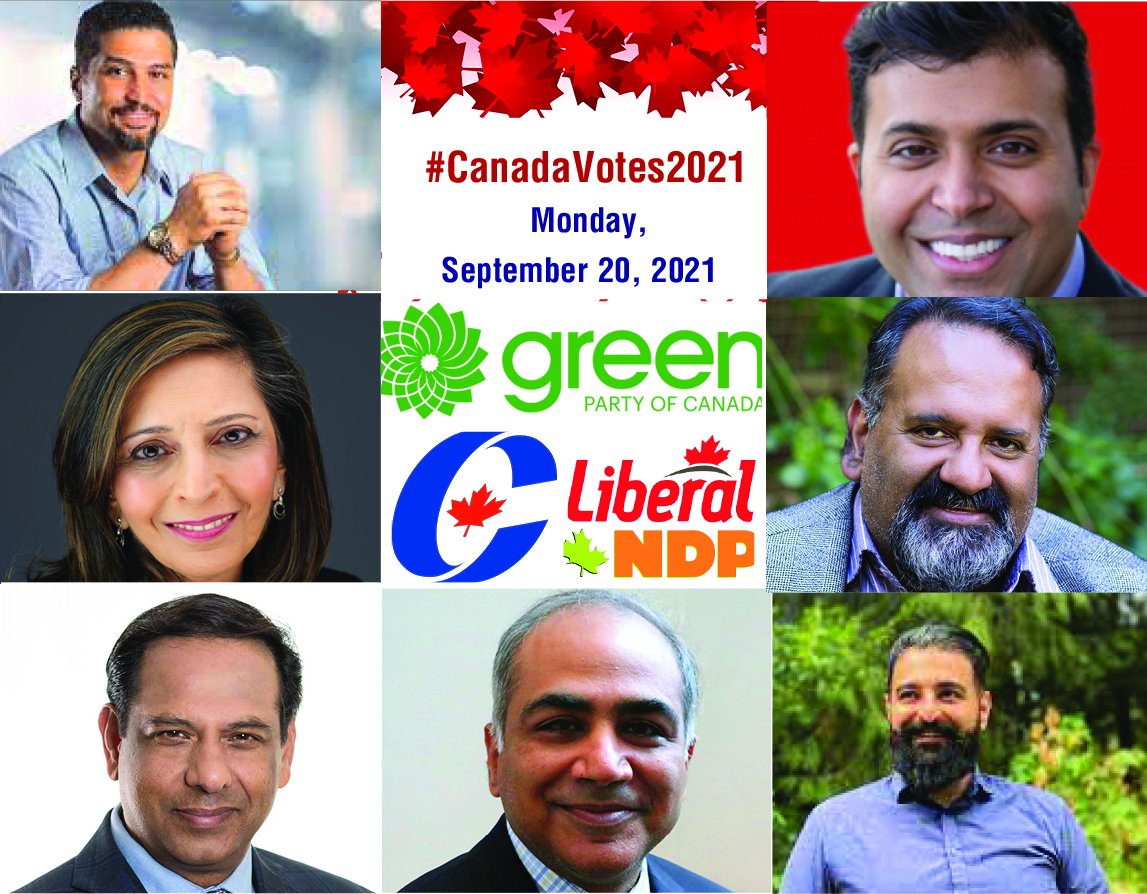 Seven Muslim Candidates in the upcoming Election from BC