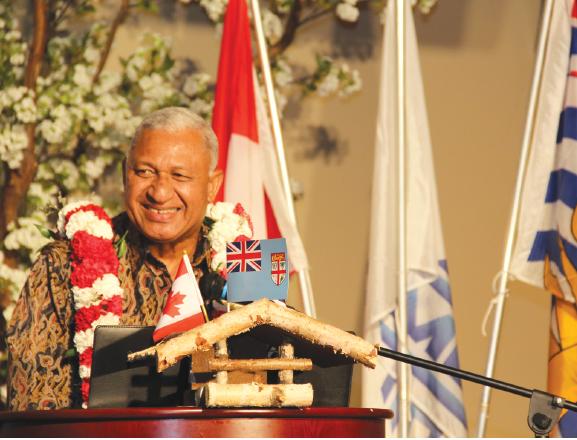 Fiji's Prime Minister Bainimarama Visits Vancouver