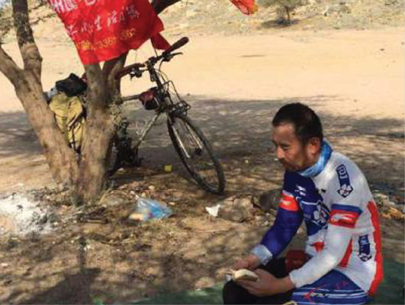Man rides bike from China to Makkah to perform Haj