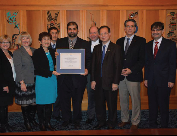PCA Presented Certificate of Appreciation by the Government of British Columbia.