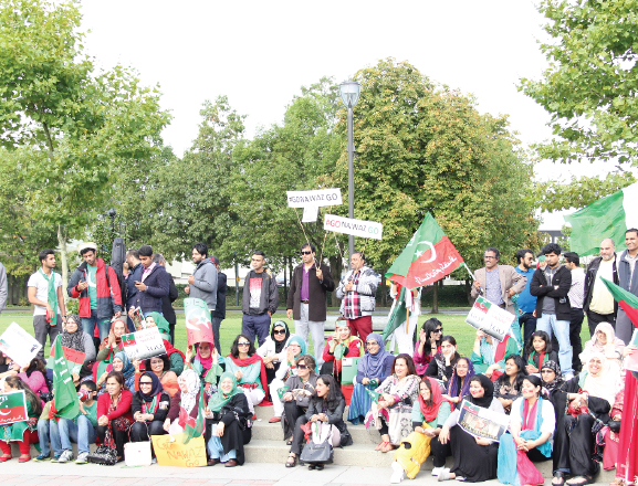 "PTI - Protest in Surrey --""Go Nawaz Go"""