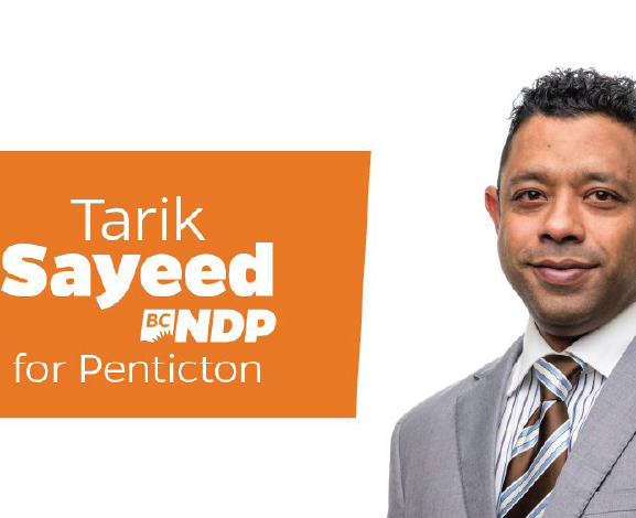 Tarik Sayeed , NDP candidate for Penticton riding is Hopeful to Win a Seat.