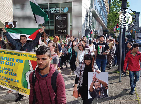 Vancouver stands with the Palestinian prisoners on their hunger strike for their basic humanitarian demands