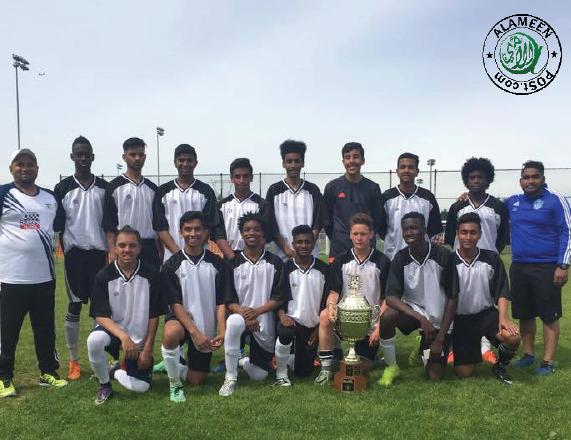 2017 Bcma Mosque cup team Surrey Jamia  U18 champion