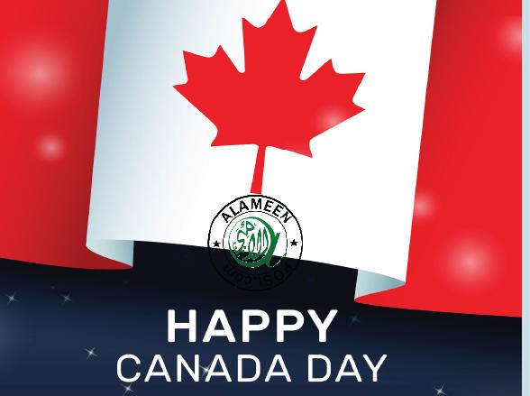 'Happy Canada Day-& Happy Eid Day'!