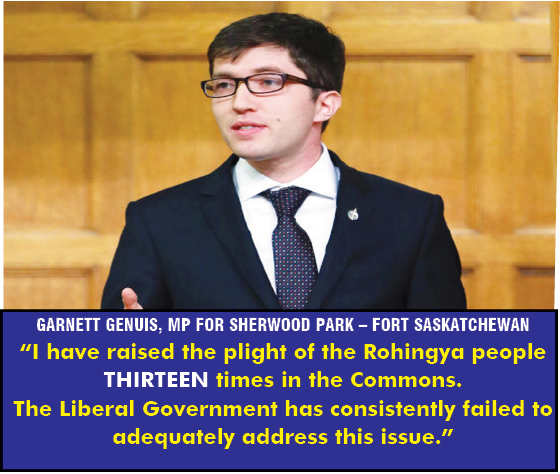 Conservative criticizing Liberal Government's slow response to persecution of Burmese Rohingya