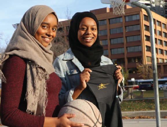 Muslim athletes at Winnipeg's Dakota Collegiate get new custom hijab