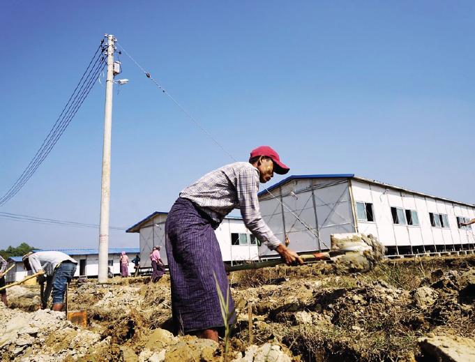 Myanmar building, but no sign of Rohingya returning