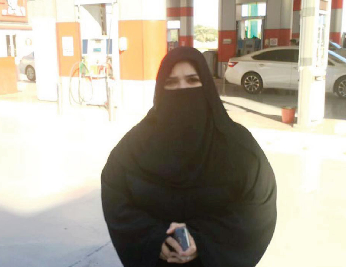 First Saudi woman to run a gas station