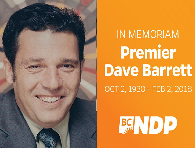A Tribute to Mr. Dave Barrett