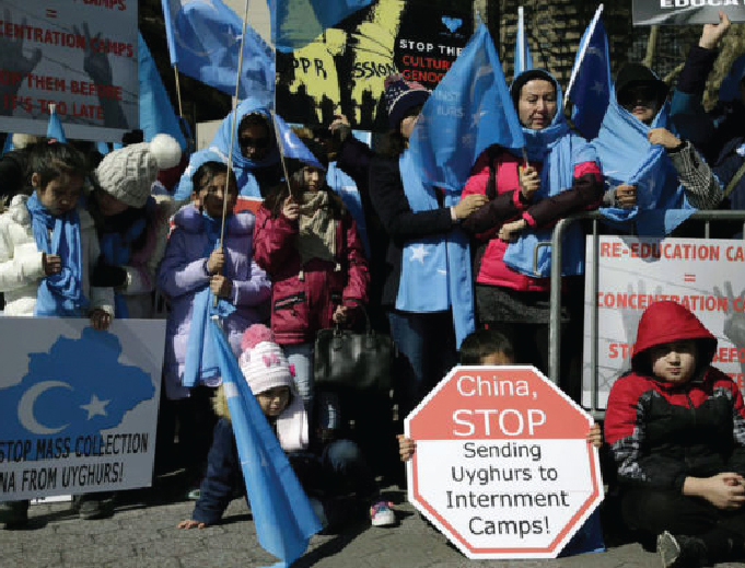 China: Uighur Muslims protest government crackdown