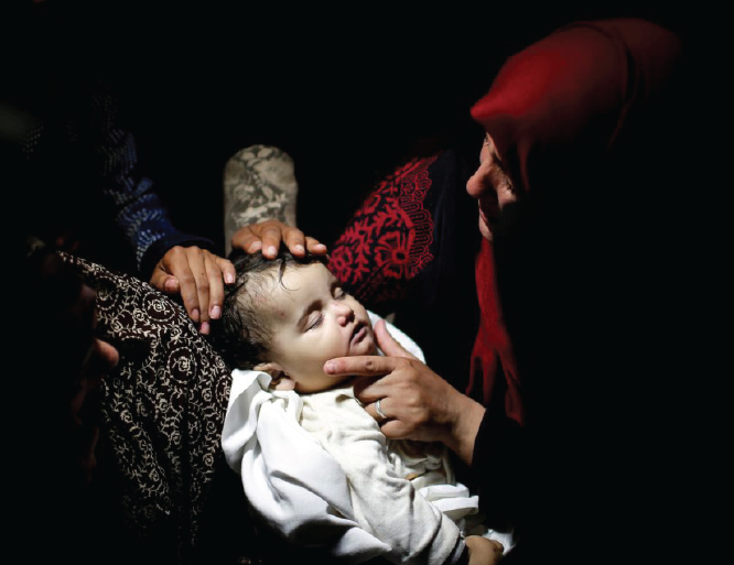 8-month-old baby girl named Laila al-Ghandour was among the dozens of Palestinians killed in Gaza this week