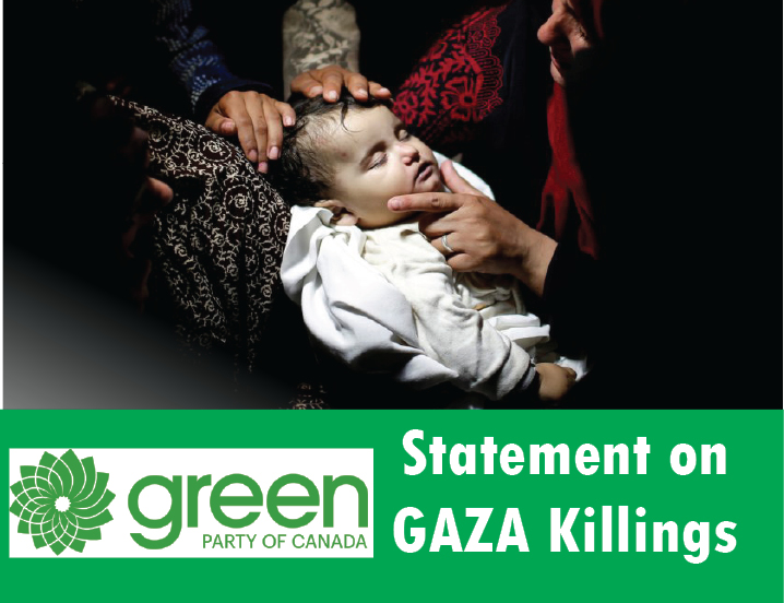 Green Party condemns slaughter in Gaza