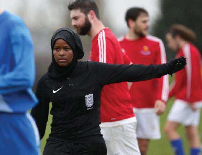 Meet Britain's first female Muslim football referee
