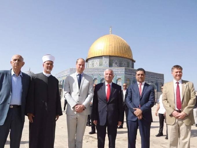 UK's Prince William visits East Jerusalem holy sites