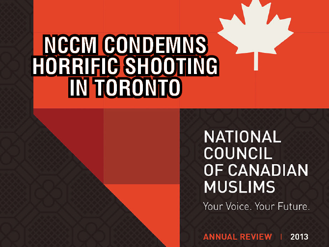 NCCM Condemns Horrific Shooting in Toronto