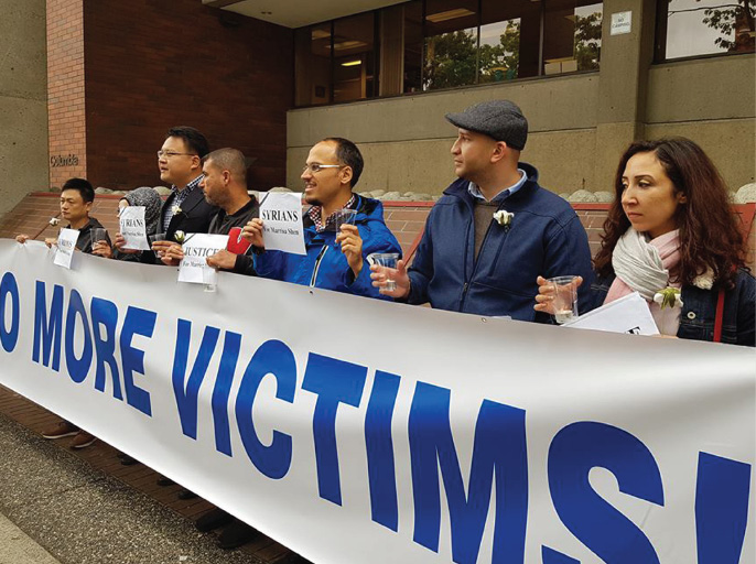 Local Syrian groups  Hold Vigil For Marrisa Shen