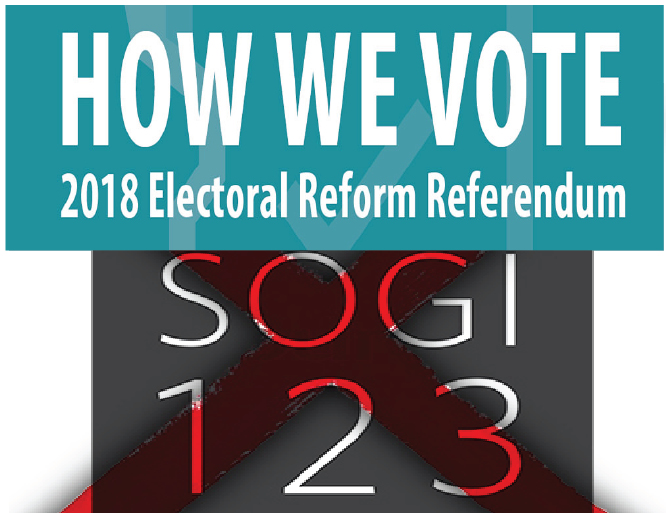 BC Voters will decide the fate of SOGI & Electoral Reforms for proportional representation