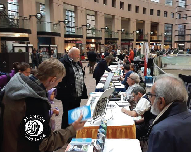 "ICNA Vancouver holds a Dawah Booth at ""Word Vancouver"" on Sept 30th @ Vancouver Centeral library."