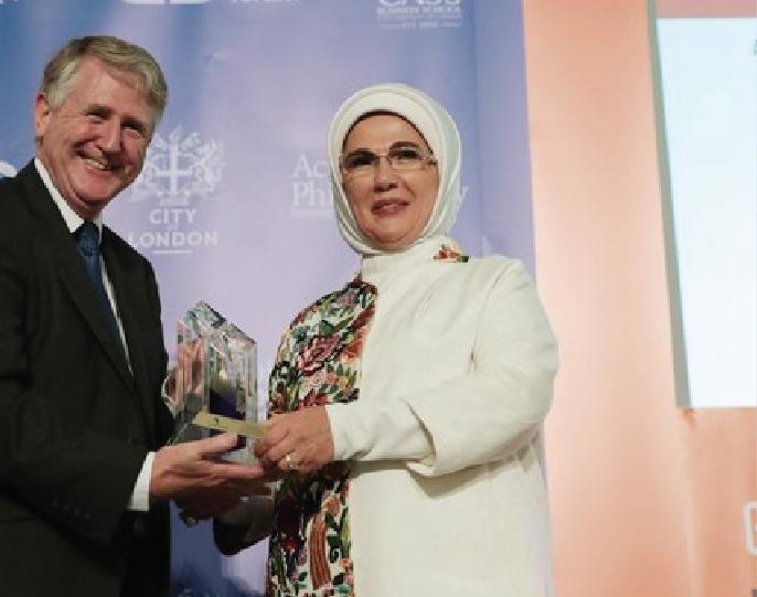 First lady Emine Erdogan receives award in New York & London
