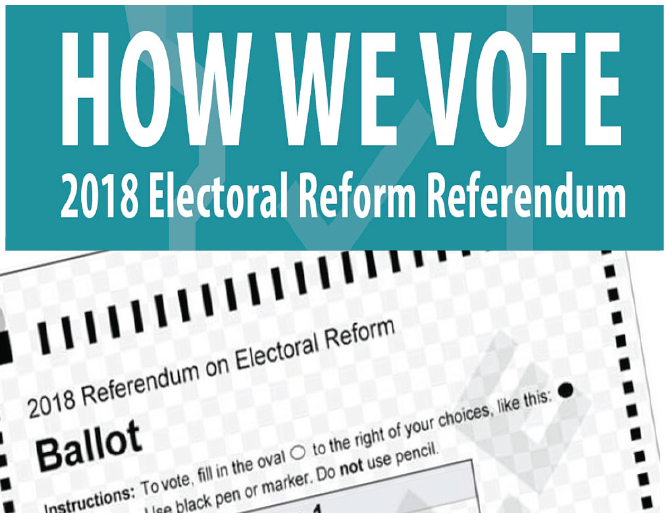 Proportional Representation: BC residents to choose a voting system.