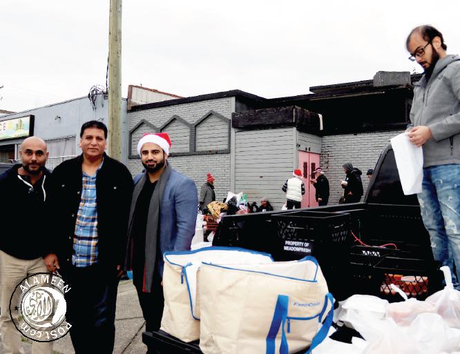 Surrey Muslim Businesses donate food to the hungry