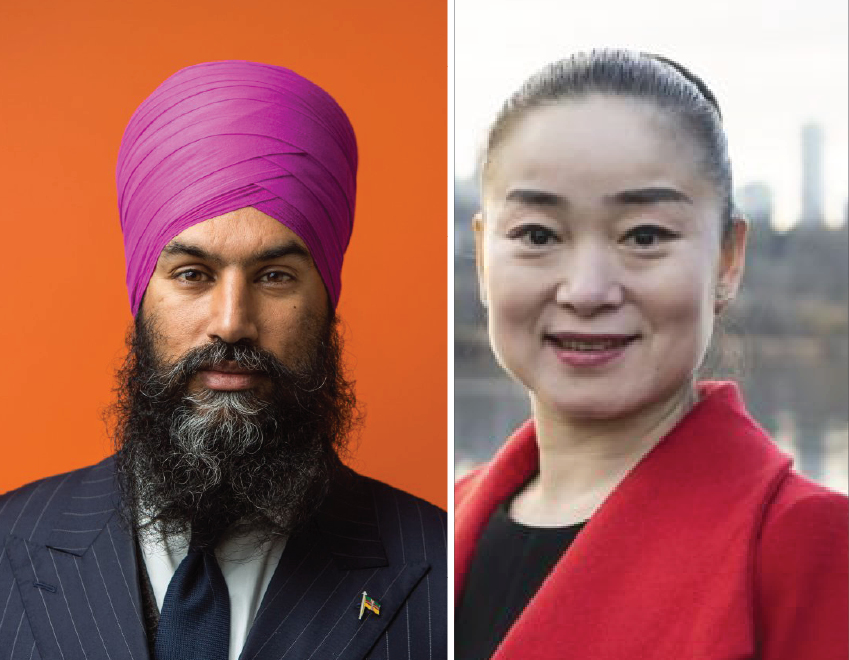 """The only Chinese candidate""s opponent in this byelection is the NDP Leader Jagmeet ""Singh of Indian descent!"""
