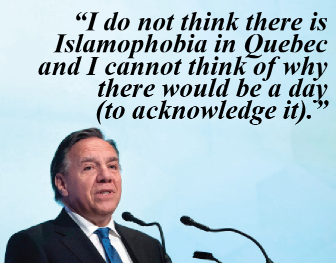 Quebec Premier's deplorable comments two days after the second anniversary of Deadliest attack on Muslims in Canada
