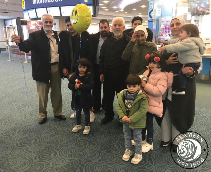 BCMA helped a Syrian refugee mother with her seven children to arrive Canada and settle in Surrey BC.