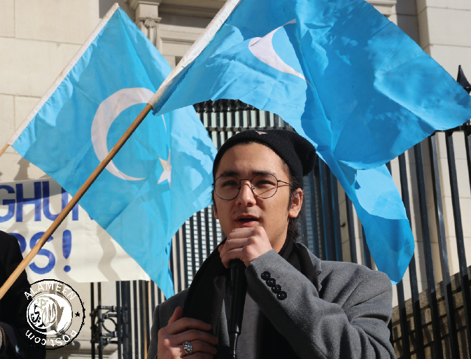 Protest Against the Genocide of the Uyghurs in China