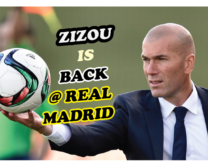 Real Madrid welcomes manager Zinedine Zidane.
