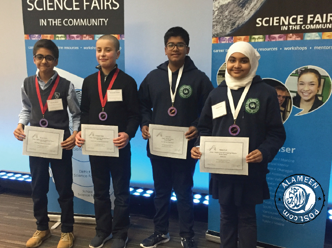 FOR THE 6TH YEAR IN A ROW, IQRA ISLAMIC SCHOOL COLLECTS MEDALS AT THE REGIONAL SCIENCE FAIR