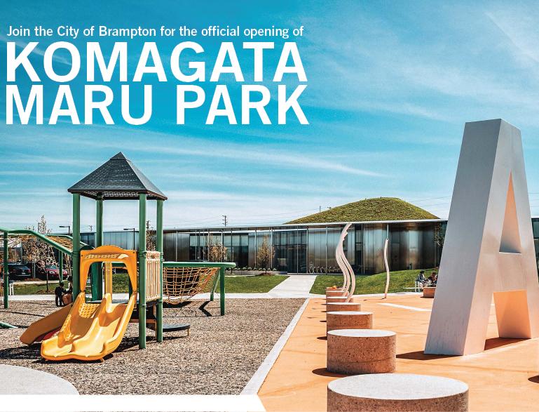CITY OF BRAMPTON OPENS KOMAGATA MARU PARK