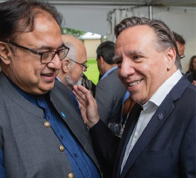 Pakistan High Commissioner Raza Bashir Tarar meets Premier of Quebec Mr. François Legault on the National Day of Quebec province