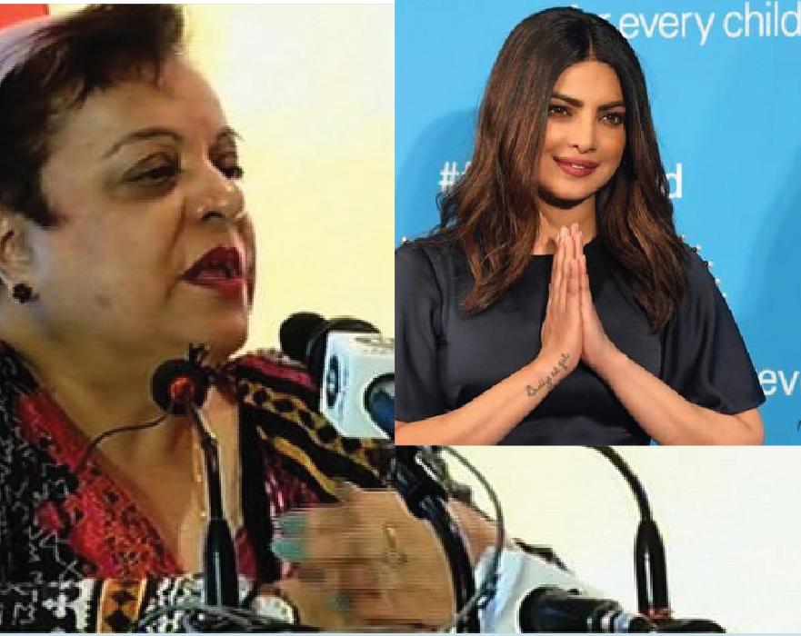 Shireen Mazari to UN: Denotifiy Priyaka Chopra as A Goodwill Ambassador for Peace