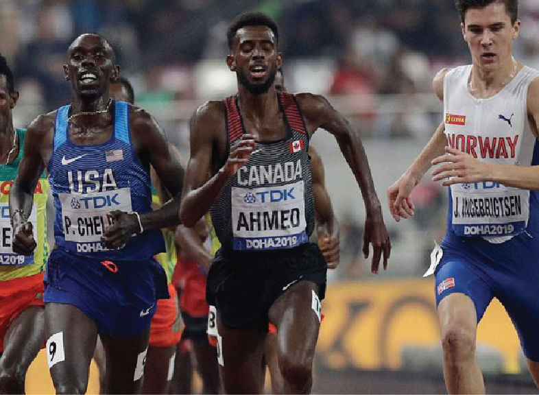 Canada's Ahmed wins bronze medal in men's 5,000 metres at track worlds championships