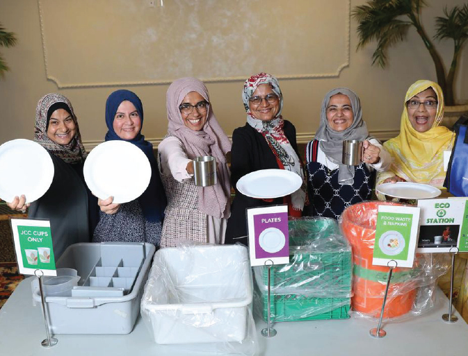 Muslim Eco Ladies Cut Waste at Thornhill Mosque
