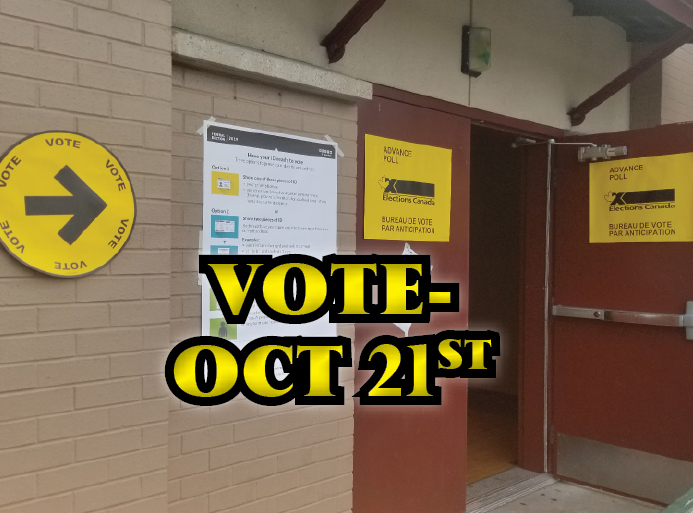 ON OCTOBER 21st - MAKE YOUR VOTE COUNT!