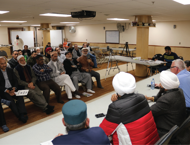 All Candidates meeting held at Surrey-Jamea Masjid on October 16