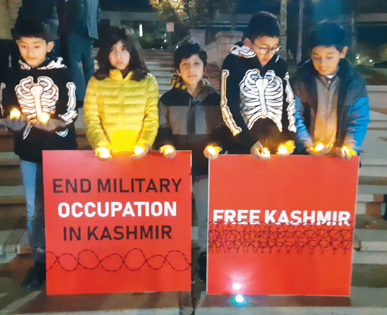 Vigil marking 72nd anniversary of Black Day for Kashmir