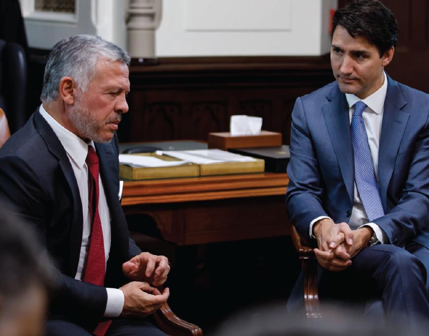 King Abdullah II of Jordan visits Prime Minister Justin Trudeau in Canada