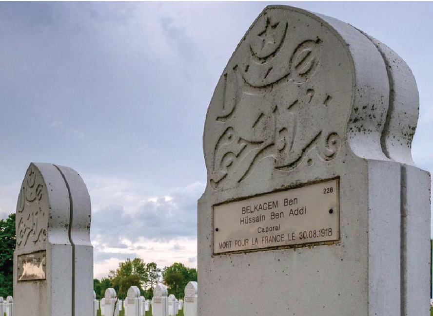 576 Muslim soldiers stand in ranks at Notre Dame de Lorette, France