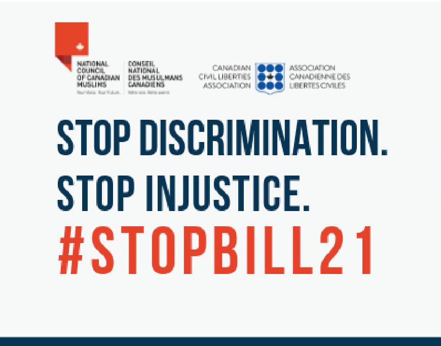 After Quebec's Court of Appeal rejected request for injunction on sections of Bill 21- NCCM to challenge the decision in the Supreme Court of Canada.