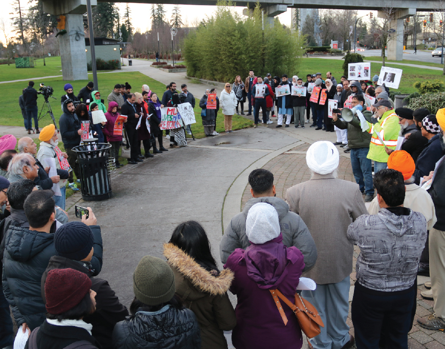 Surrey protest against India's Citizenship Amendment Act